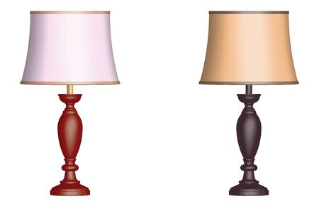 Table lamp. Traditional style. 3D effect vector