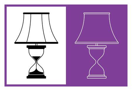 Table lamp. Room lighting. Flat icons. Vector illustration Illusztráció
