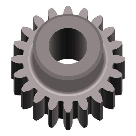 Gear wheel. Mechanical transmission. Vector illustration
