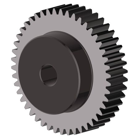 Gear wheel. Spare parts. Vector illustration
