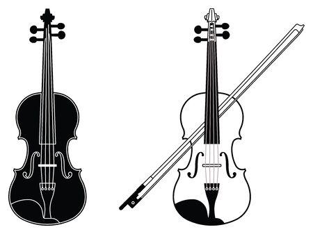 Violin icon set. Vector illustration
