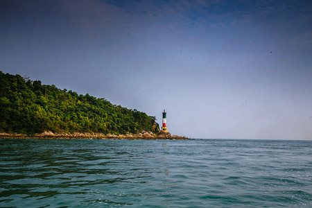 billow: lamp lighthouse on the island