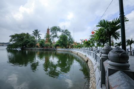 Tran Quoc Pagoda in Hanoi, Viet Nam photo