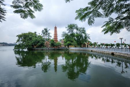 tran: Tran Quoc Pagoda in Hanoi, Viet Nam Stock Photo