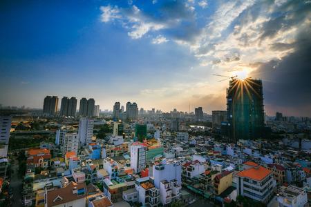 Ho Chi Minh City Panorama, Saigon Vietnam Stock Photo - 34931691