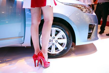 nice legs: Nice legs byside the car