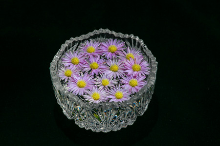 Flowers in a bowl photo