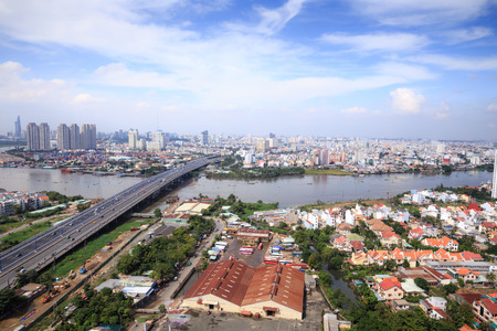 HCM city panoramic view from above