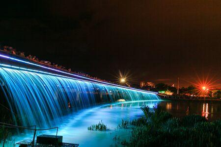 Starlight Bridge in night-HCM City