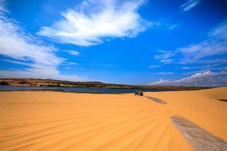 砂の丘ファン ティエット-ベトナム 写真素材