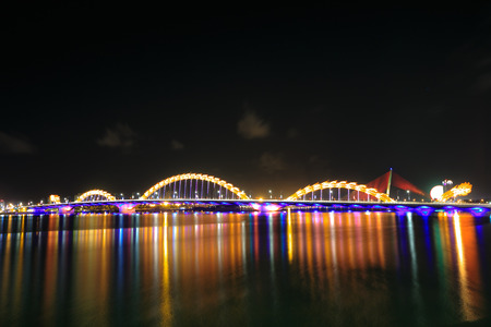 Bridge Dragon on river Han-Da Nang photo