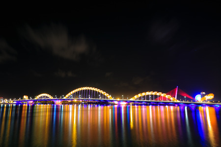 Bridge Dragon on river Han-Da Nang photo