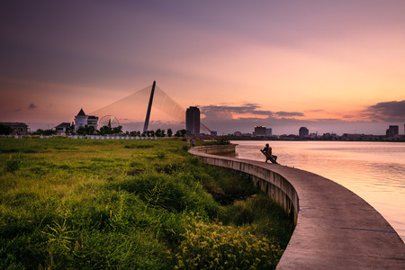 Sunset on the River Han photo