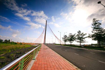 sidewalks: Sidewalks on the cable-stayed bridge TranThiLy