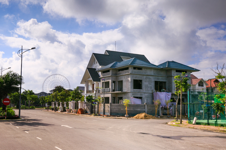 residential house: Residential House under construction Stock Photo