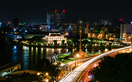 vietnamese ethnicity: HCM city at night