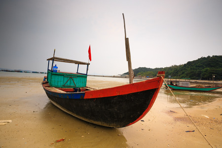 Old fishing boat photo