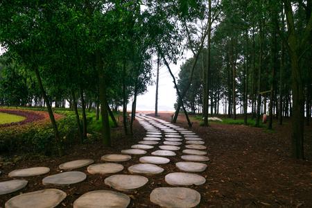 Walkway in resort photo