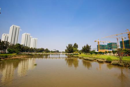 housing lot: Modern Multi-Story Apartment Building