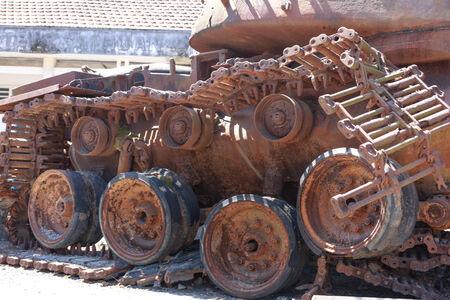 remnants: Tank-War Remnants Stock Photo