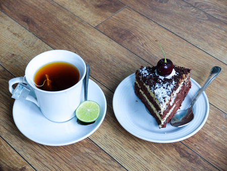 cup tea: Cake and cup tea