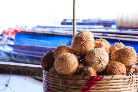 Selling fruit on floating market photo