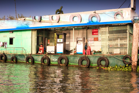 Petrol station on the river