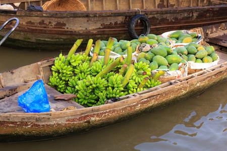 floating market: Selling fruit on floating market