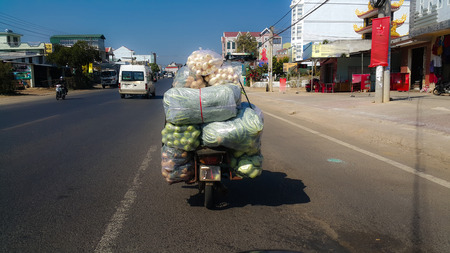 Cargo by motorcycle