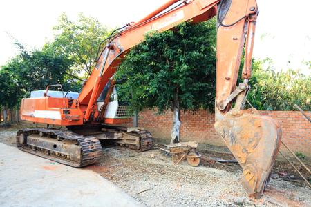 dredging tools: Excavator close up