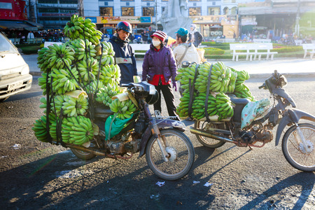 Fruit market trading in Asia