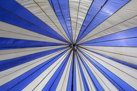 canopy: Blue and white canopy Stock Photo