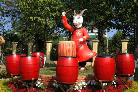 period costume: Drum festival of Asians