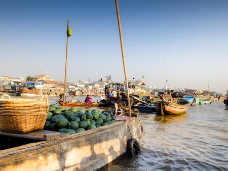 rang: Cai Rang floating market, Can Tho, Vietnam