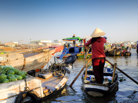 can tho: Cai Rang floating market, Can Tho, Vietnam