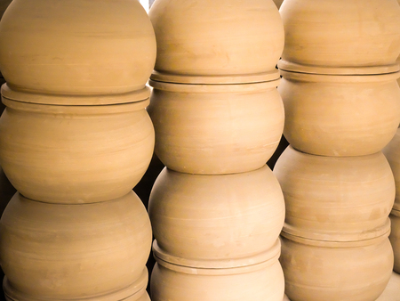 stood up: Pottery ceramics Stock Photo