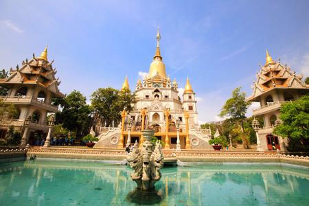 Buu Long pagoda at Ho Chi Minh City, Vietnam