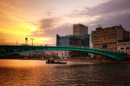The landscape of Saigon: Sunset on the Saigon River
