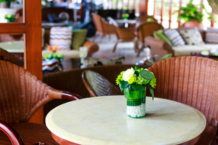 forgery: Romantic cafe in resort Stock Photo