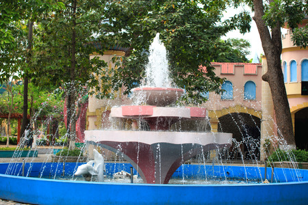 sen: Vietnam Ho Chi Minh city April 11 2015: Fountain in Dam Sen Park in Ho Chi Minh City Vietnam