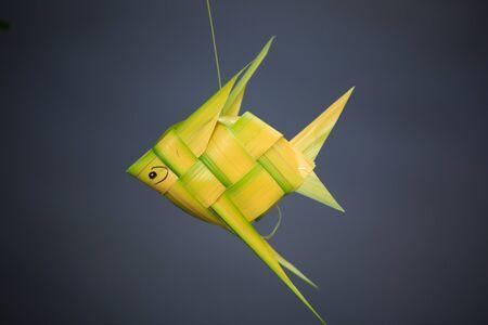 demijohn: wicker made of coconut leaves fish