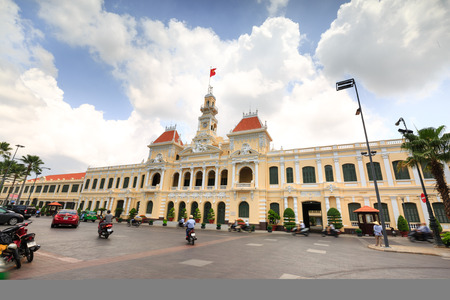french ethnicity: Vietnam Ho Chi Minh city May 25 2015: Building the People39s Committee of Ho Chi Minh city places of historical and ancient Dates architecture famous for tourism m Vietnam