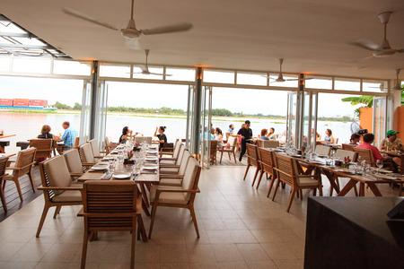 hochiminh city vietnam june 7 2015 at a floating restaurant on saigon river theo european - Large Restaurant 2015