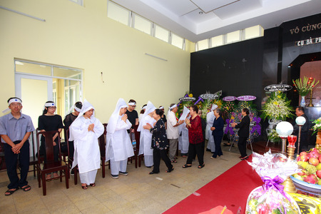 deceased: Hochiminh City Vietnam June 12 2015 in the tradition of the Funeral The Ceremony to take Asian Buddhism to the final resting place deceased Editorial