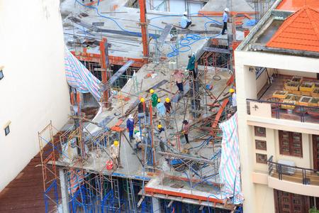 Hochiminh City, Vietnam - 25 juni 2015: Civil woningbouw in Ho Chi Minh City, Vietnam