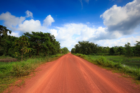 dirtroad: Red dirt road in the tropical jungle
