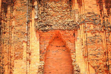 vestige: Phu Yen Province, Vietnam - August 15, 2015: The Ancient Vestige of the Cham temple in Phu Yen Remains