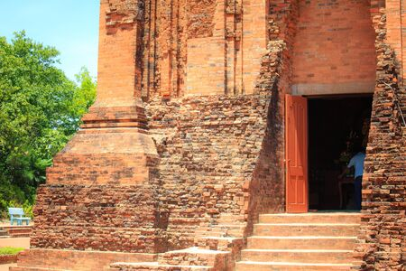 linga: Phu Yen Province, Vietnam - August 15, 2015: The Ancient Vestige of the Cham temple in Phu Yen Remains