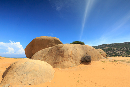 rang: The grand panorama - a stone desert of sandstone. sunny windy autumn