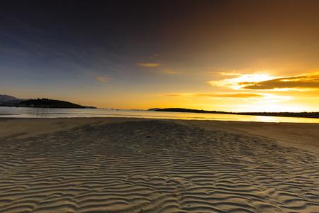 uninhabited: sand on the beach at dawn image